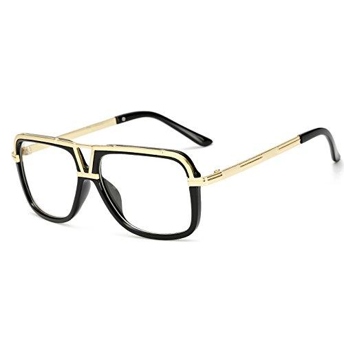 Gafas Hombres de Mujeres Mach para C1 de Sunglasses Mujeres uno de Sol KP18002 KP18002 Negro de Gafas Sol Gran Gafas los Atrás de TL Cuadrados Sol Las White C7 Macho Hombres Tamaño Mujer wUvXXxF