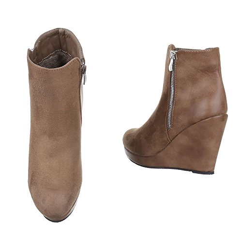 Ital-Design Women's Plateau Light Brown a5CmTdtP
