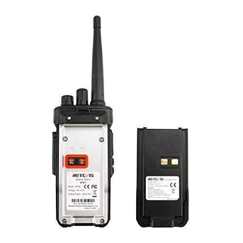 Retevis RT48 Walkie Talkie for Adults Long Range IP67 VOX Monitor Scrambler Security Walkie Talkies Waterproof (2 Pack) by Retevis (Image #6)