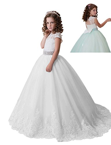 Lilis Lovely Princess Tulle Lace Girl Dress Flower Girl Dress Homecoming Day by Lilis