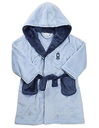 MINIKIDZ Childrens Kids Boys Rocket Space Bath Robe (Ages 2-6) Snuggle Fleece Gown