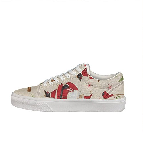 Debbie Mum Santa And Friends Santa & Woodland Friends Unisex Casual sneakers Canvas athletic Fashion designer gift Woodland Rubber Sole Sneakers