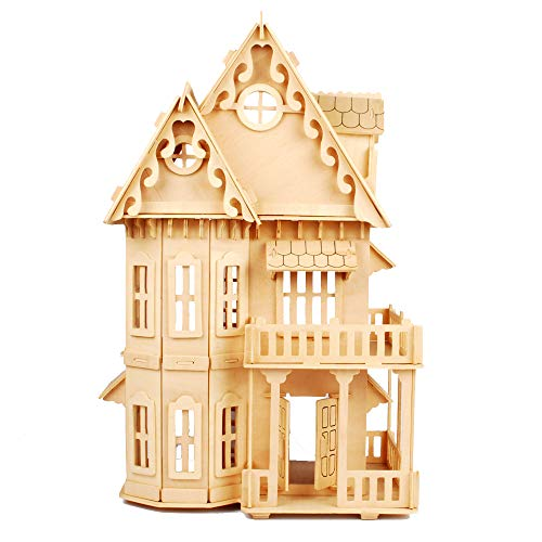"""NWFashion Children's 17"""" Wooden 6 Rooms DIY Kits Assemble for sale  Delivered anywhere in USA"""