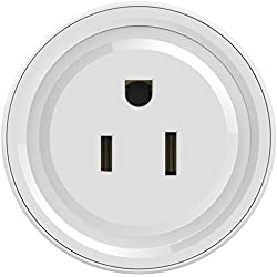 Smart Outlet Compatible with Alexa No Hub Required Remote Voice Control Intelligent Wifi Socket,1 Pack
