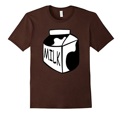 Mens Funny Last Minute Halloween Costume Milk T-Shirt Big Tee XL (Last Minute Halloween Costumes Adults)