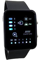 Technological Sense Binary Digital LED Waterproof Unisex Sports Wrist Watches Black