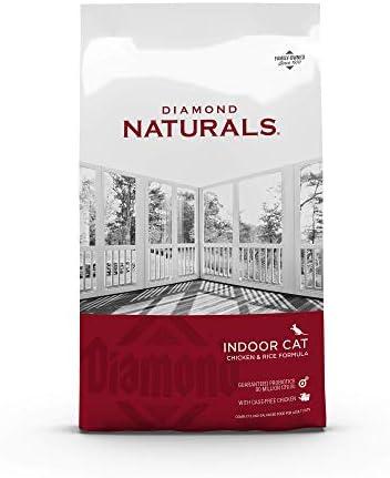 Diamond Pet Foods INDCAT18 Naturals Comida seca para gatos adultos, fórmula de pollo con control de bolas de pelo para interiores, bolsa de 18 libras 2
