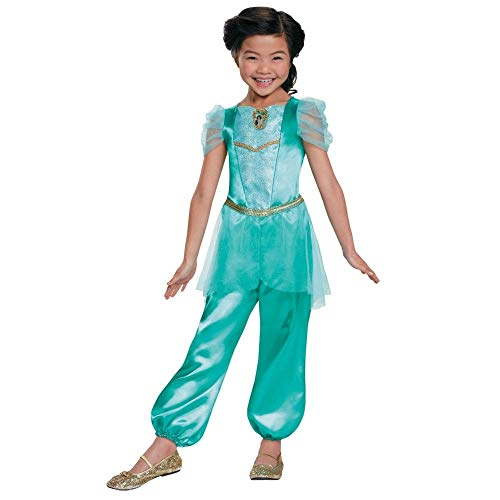 Jasmine Classic Disney Princess Aladdin Costume, One Color,