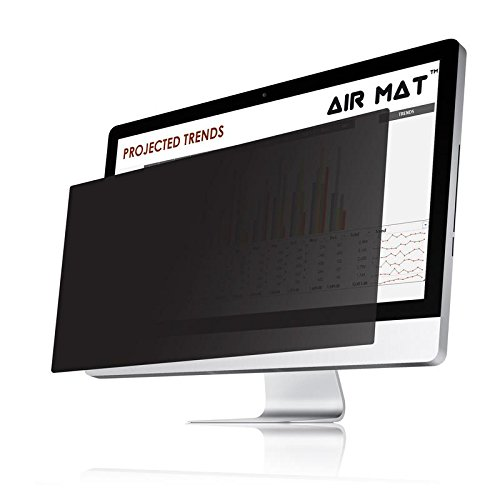 26 Inch Privacy Screen Filter for Widescreen Computer Monitor (16:10 Aspect Ratio). Original Anti Glare Protector Film for Data confidentiality - (Actual Size 25 9/16 W10) - Measure Screen Carefully Air Mat