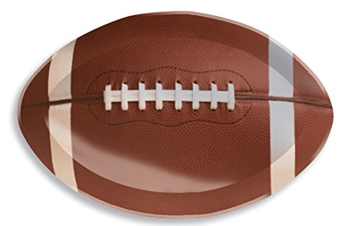 Creative Converting Football Shaped Plastic Tray, 17