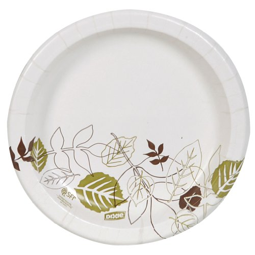 "Dixie 8.5"" Medium-Weight Paper Plates by GP PRO (Georgia-Pacific), Pathways, UX9WS, 500 Count (125 Plates Per Pack, 4 Packs Per Case)"