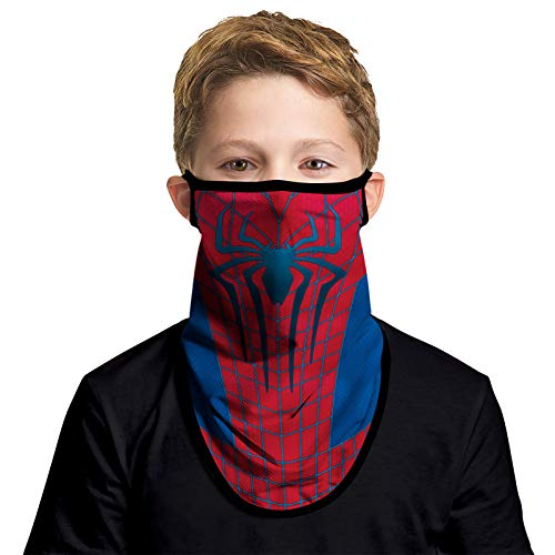 JOEYOUNG Kids Face Mask Bandanas with Ear Loops Neck Gaiter, Ages 4-13 Boys/Girls/Children Mask for School, Party…