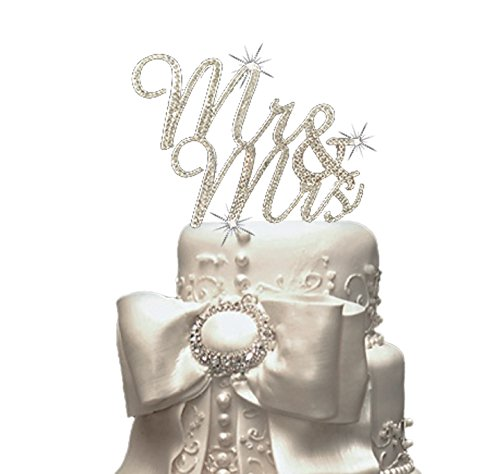 Cutie Made Mr & Mrs Sparkling Rhinestone Cake Topper for The Special Event (Tangled Fancy Dress)