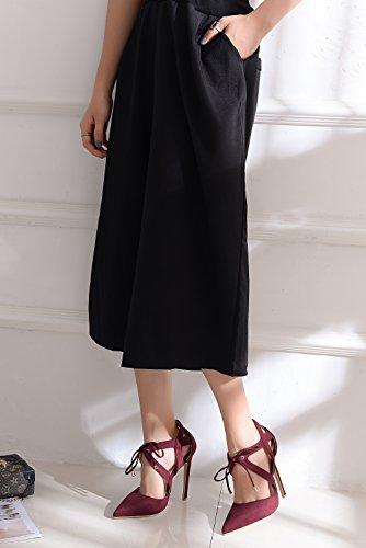 Mila Lady Nydia Dorsay Classico Pizzo Caviglia Strappy Eleganza Piattaforma Tacchi Donna! Borgogna