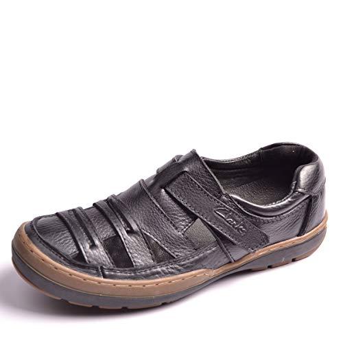 Negro con Cuero Zuecos Zapatos Sandalias 43 Suela Hombre tacón para Moda con out Vacuno tamaño EU Hollow Marrón Color Blanda Cerrado Fuxitoggo de XOxYZnzn