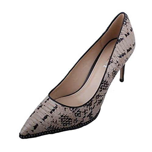 da3b7f6770ad Coach Vonna Womens Cream Snake Leather High Heel Shoes on sale ...