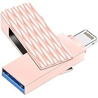 USB Flash Drives for iPhone 32GB Lightning Pen-Drive Memory Storage, Suntrsi Jump Thumb Pen Drive Memory Stick Expansion External Storage for iOS Mac Windows PC (32G Pink)