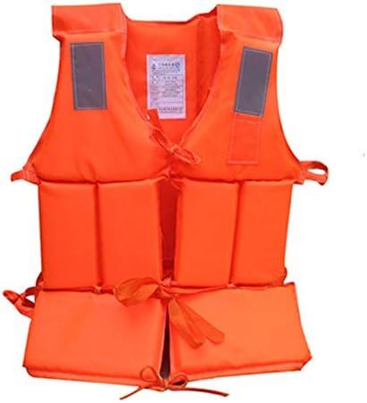 スポーツライフベスト 大人のライフジャケットは肥厚ボートドリフト釣り救命水泳ベストを増やします ユニセックス (色 : Orange, Size : 55x40cm)