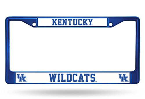 Rico Industries NCAA Kentucky Wildcats Team Colored Chrome License Plate Frame, Blue