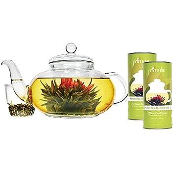 Amazon.com | Primula Daisy 40 oz Glass Teapot Gift Set - Includes ...