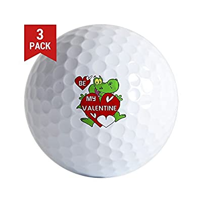 CafePress - Crocodile Be My Valentine - Golf Balls (3-Pack), Unique Printed Golf Balls