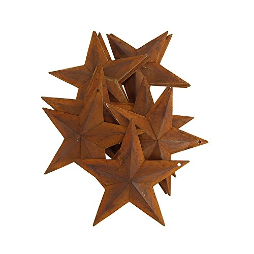 Homeford FDT00070656803AC Metal Rustic Stars Christmas Decor, 5-1/2-Inch, Rust Review