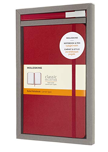 Moleskine Classic Hard Cover Ruled Notebook & Rollerg ()