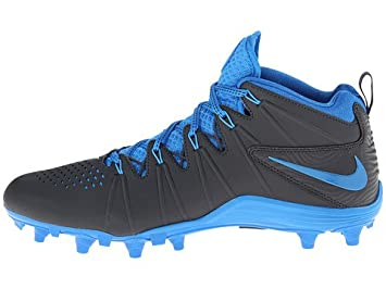 Nike Huarache 4 LAX Men's Lacrosse Cleats (Grey-Blue, ...