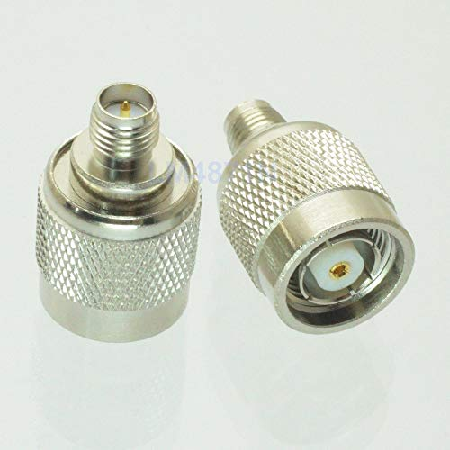 Gimax 1pce RP-TNC male jack to RP-SMA female plug RF adapter connector nickel (Tnc Female Chassis)