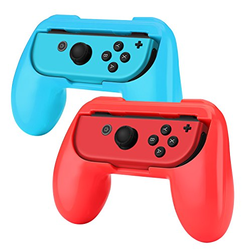 Cheap TNP Joy-Con Grip for Nintendo Switch(2 Pack) – Comfortable Grip Wear Resistant Joy-Con Handle Game Controller Kit Accessory for Nintendo Switch (Red+Blue) – Nintendo Switch