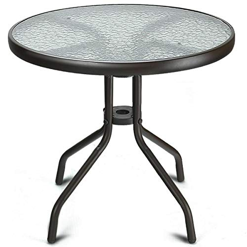 Cypress Shop Outdoor Patio Round Table Tempered Glass Top 24