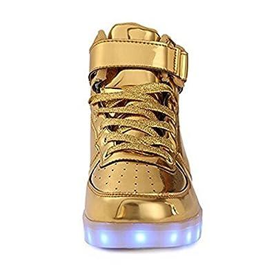 Toddler Little Big Kids Boy Girl USB Flashing LED Light Shoes Sneaker Jintx26