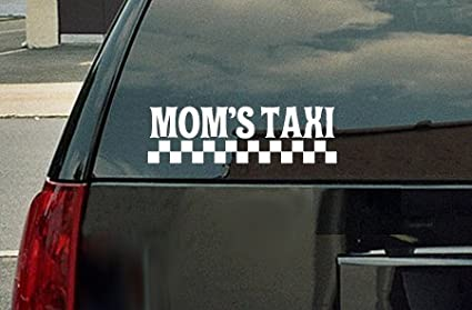 Taxi Service Dog Mom Cheeky Sayings 7.5in Vinyl Decal Dachshund