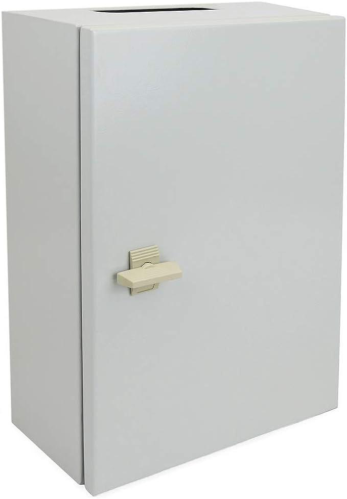 BeMatik - Caja de distribución eléctrica metálica con protección IP65 para fijación a Pared 500x400x150mm: Amazon.es: Electrónica
