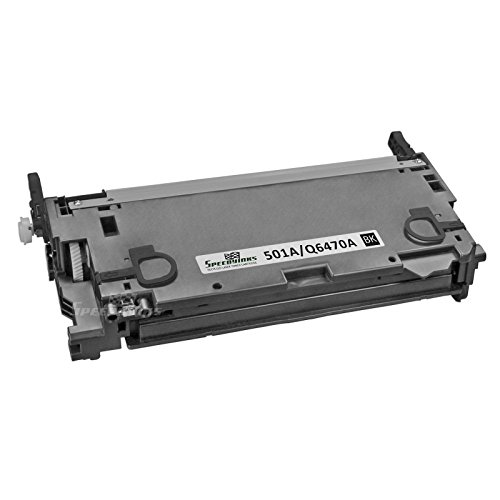 Speedy Inks - Remanufactured Replacement for HP 501A Q6470A Black Laser Toner Cartridge for Color LaserJet CP3505dn, LaserJet CP3505n, CP3505x, 3600, 3600dn, 3600n, 3800, 3800dn, 3800dtn, 3800n Cp3505dn Laser Printer