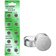 SKOANBE 10PCS AG13 LR44 303 A76 357 SR44 1.5V Battery Button Coin Cell Batteries