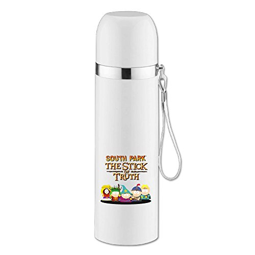 ASCHO2 Vacuum Insulated Stainless Steel South Park Thermos Cup Mug With Cup Cap And Pourable Stopper For Indoor And Outdoor Activities, 25-Ounce