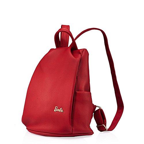 BBBP019 de Rouge en Sac PU Cuir Femmes Classique Barbie Simple Mode Pure Dos Filles Couleur Loisir à 4ZnWwfqt