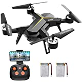 Drone with 1080P HD Camera for Kids & Adults, WiFi FPV RC Quadcopter with Headless Mode, Altitude Hold, One Key Take Off & Landing, 2.4Ghz 6-Axis Gyro Beginners Drone, 14 Mins Long Flight Time