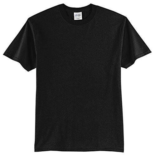 Port & Company Mens 50/50 Cotton/Poly T-Shirt PC55 -Jet Black M
