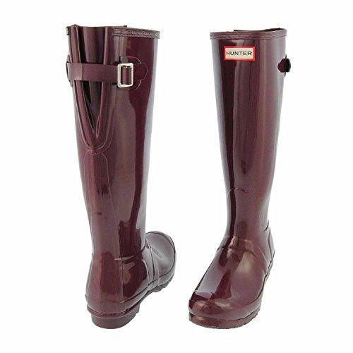 Botas original Damson de espalda ajustables rojas de mujer Hunter lluvia para TpqXvpxrw