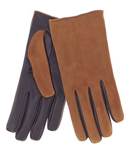 Fratelli Orsini Men's Touchscreen Suede and Lambskin Gloves with Cashmere Lining Size 10 Color (Mens Camel Italian Suede)