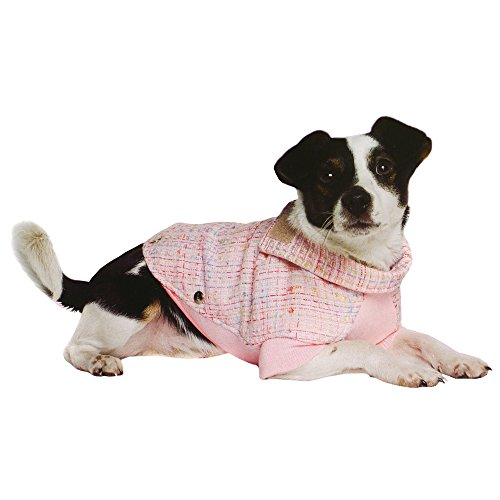 Ancol Pet Products Paris Tweed Pattern Dog Coat (Large) (Pink)