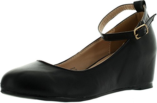 Chase-Chloe-Womens-BOBBY1-Round-Toe-Ankle-Strap-Wedge-Heel-Shoe