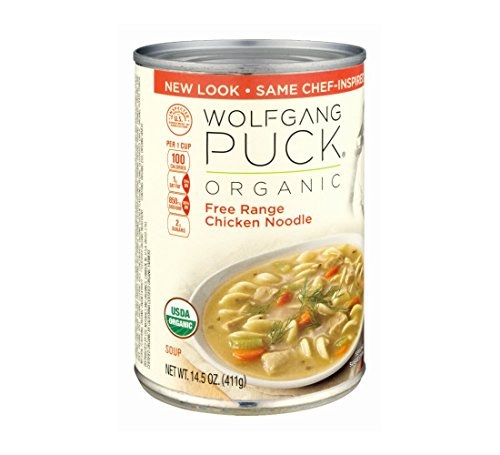 Wolfgang Puck Organic Chicken with Egg Noodles Soup, 14.5-Ounce Cans (Pack of (Old Fashioned Chicken Noodle Soup)