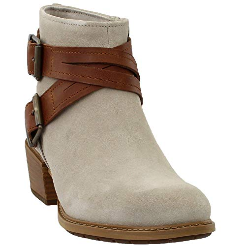Women Ankle Boot Timberland (Timberland Womens Sutherlin Bay Cross Strap Ankle Boot, Light Taupe Suede, Size 8)