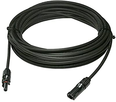 20 FEET UL Solar Panel Extension Cable Wire (20 ft.) with MC4 Connectors PV - 10 AWG - 600VDC