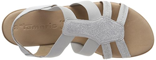 Tamaris Comb grey 28712 Lt Back WoMen Grey Sandals 248 Sling 4rv4gxU