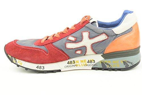 Premiata scarpe uomo sneakers basse MICK 1281 grigio/rosso/arancio TG 42