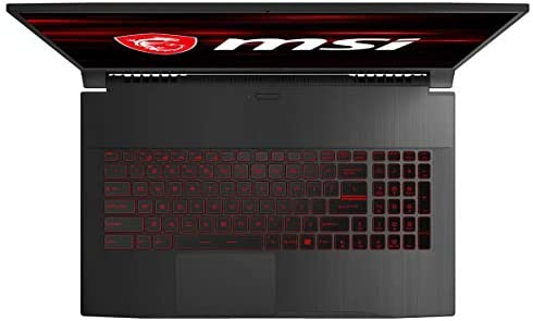 "MSI GF75 Thin Gaming Laptop: 17.3"" 144Hz Display, Intel Core i5-10300H, NVIDIA GeForce GTX 1650, 8GB RAM, 512GB NVMe SSD, Win10, Black (10SCXR-617)"